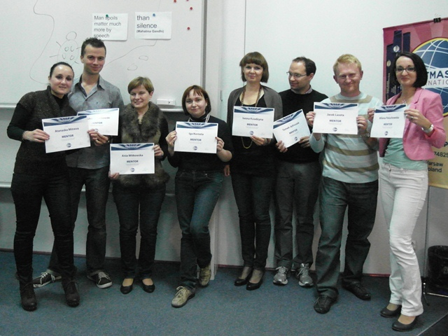 Club Mentors with diploma introduced by Naska Mitreva