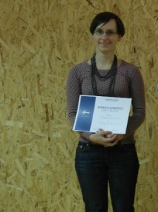 Magda Rudzka - First place in Evaluation Speech Contest